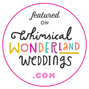 Edinburgh wedding photographer featured on Whimsical Wonderland Weddings